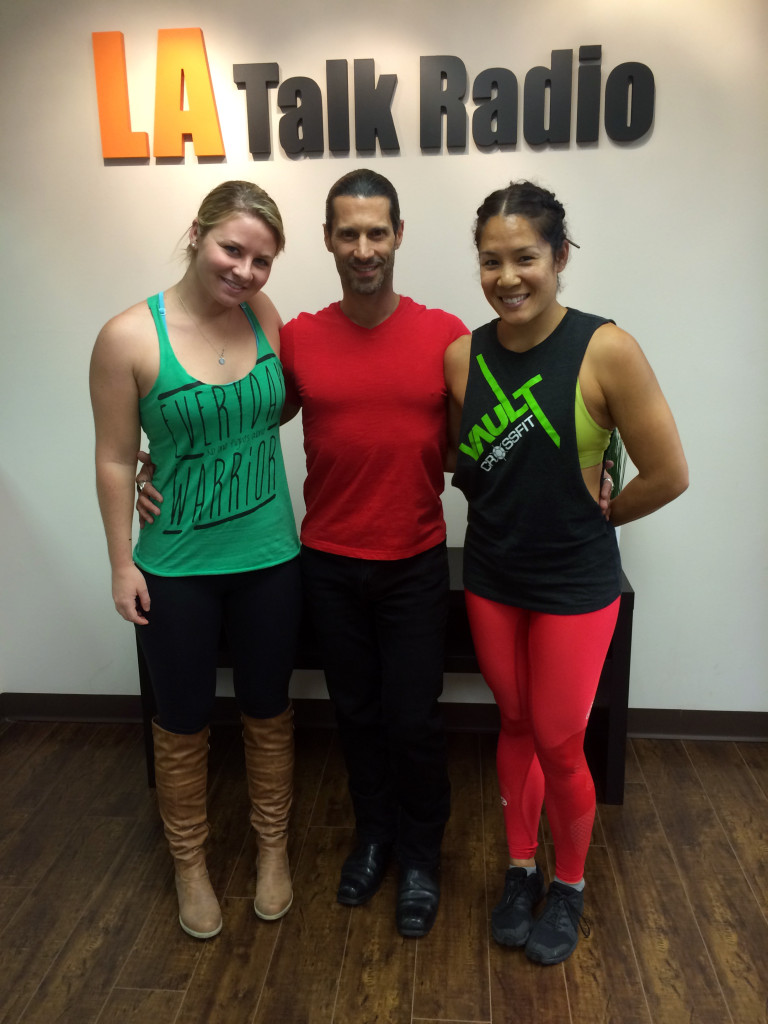Tola Talks' Rich Tola with Emily Hughes and owner Chanida Sintuu of Vault Crossfit